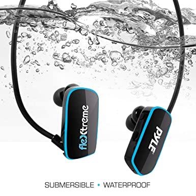 Pyle Upgraded Waterproof MP3 Player - V2 Flextreme Sports Wearable Headset Music Player 8GB Underwater Swimming